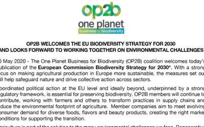 Statement on EU Biodiversity Strategy, May 2020
